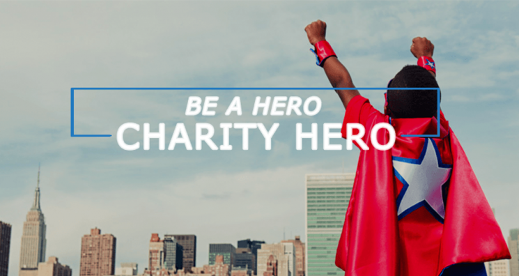 Be a charity hero