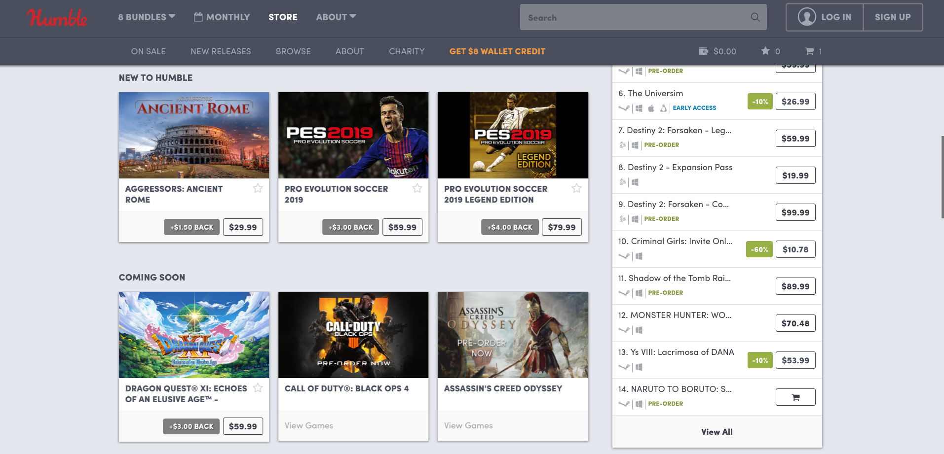 Step One: Visit Humble Bundle's Online Store Through Our Link