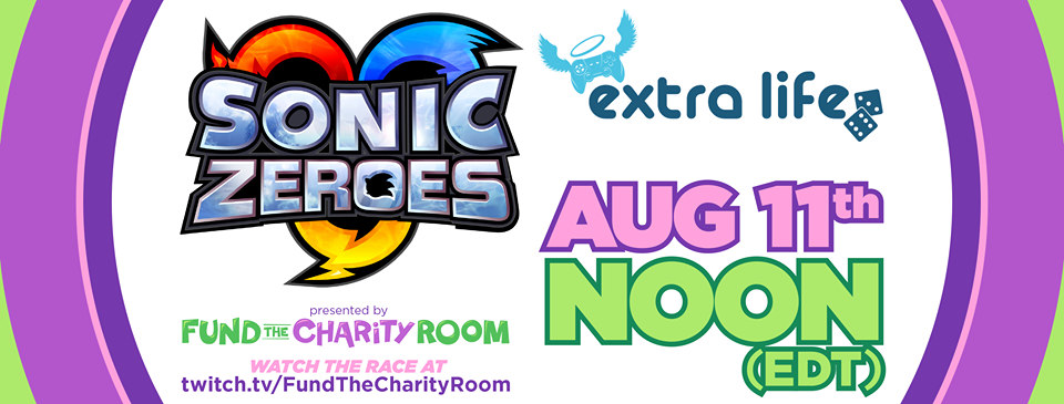 Fund the Charity Room is holding an event called Sonic Zeroes at noon on August 11 to raise money for Extra Life, a non-profit. Dreamscape gives the scoop about the group and their event in this blog.
