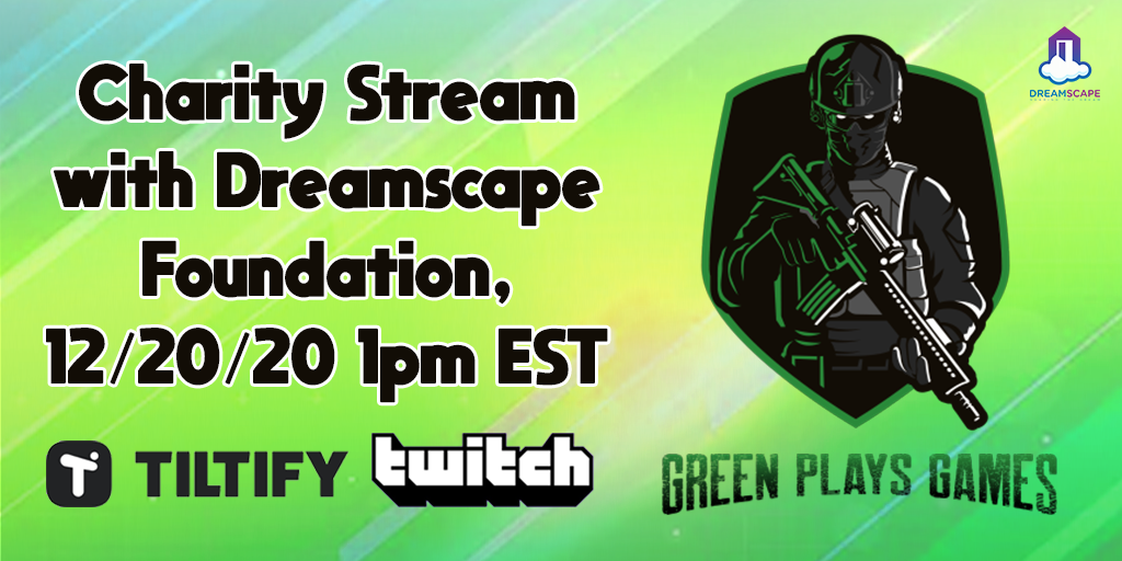 bud_dreams: Charity Stream with Dreamscape Foundation, 12/20/20 1pm EST